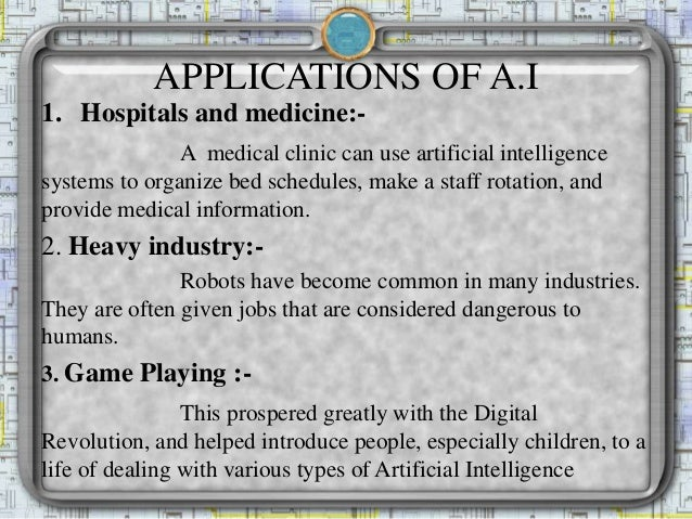 applications of artificial intelligence in medicine
