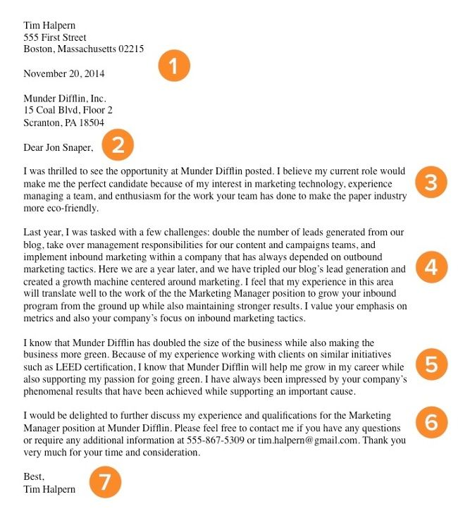 how to right a job application letter