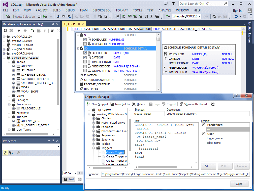 create a database application in visual studio