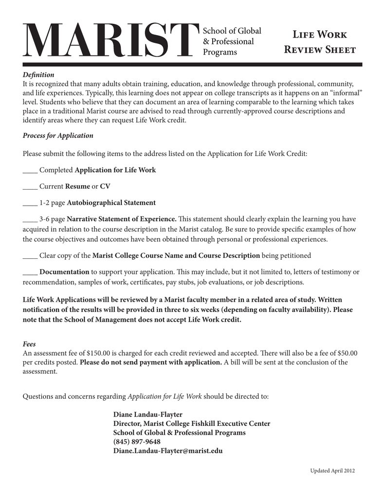 statement in support of application