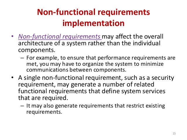 non functional requirements for web application