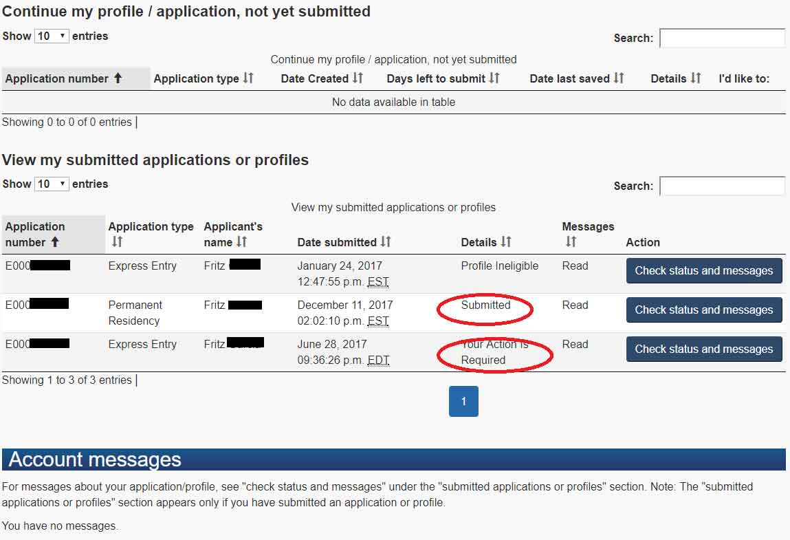 cic check your application status