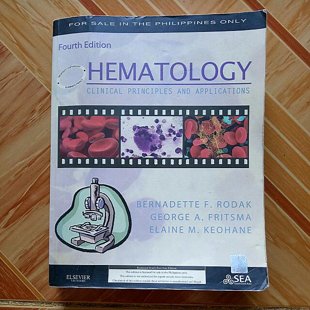 hematology clinical principles and applications 4th edition